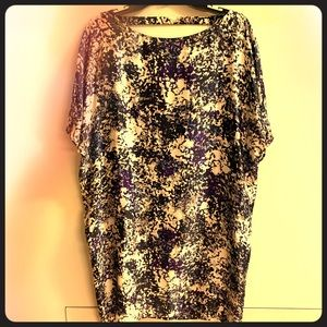 Scoop back silk dress